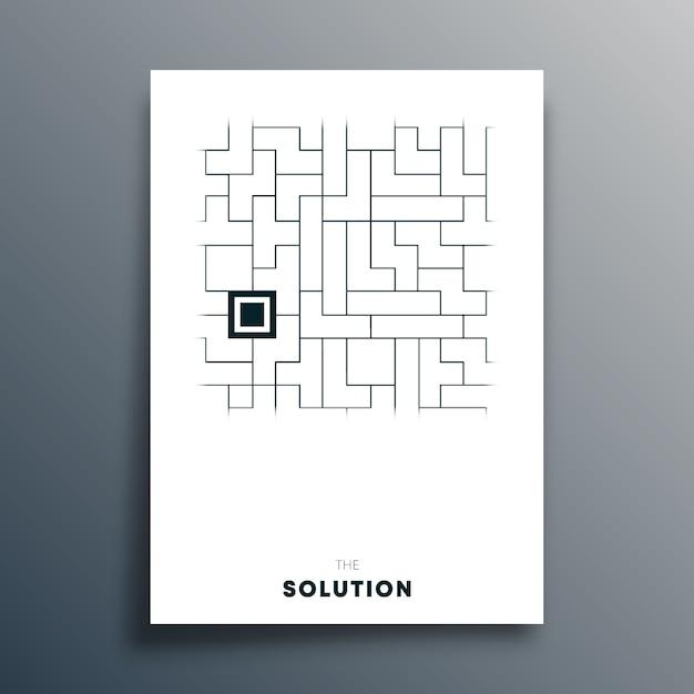 La soluzione tipografia astratta design per poster Vettore Premium