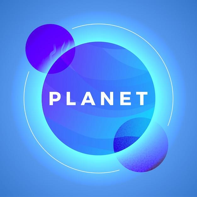 Illustrazione di vettore della sfera dell'estratto del pianeta dello spazio. universo iperspaziale futuristico Vettore Premium