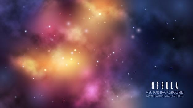 Spazio universo sullo sfondo Vettore Premium
