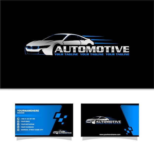 Velocità auto logo Vettore Premium