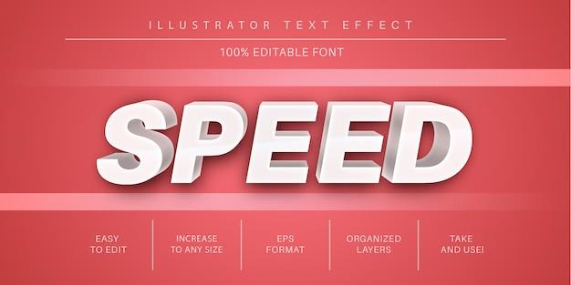 Velocità effetto testo modificabile Vettore Premium