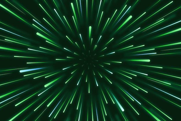 Sfondo di luci di velocità Vettore Premium