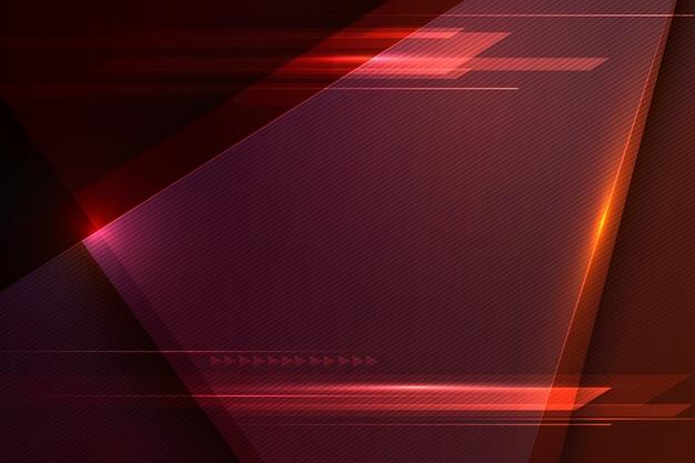Sfondo rosso futuristico di velocità e movimento Vettore Premium