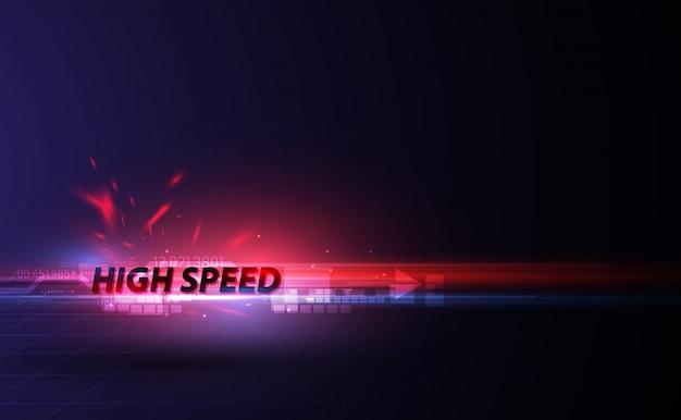 Fondo di progettazione del modello del movimento di velocità Vettore Premium