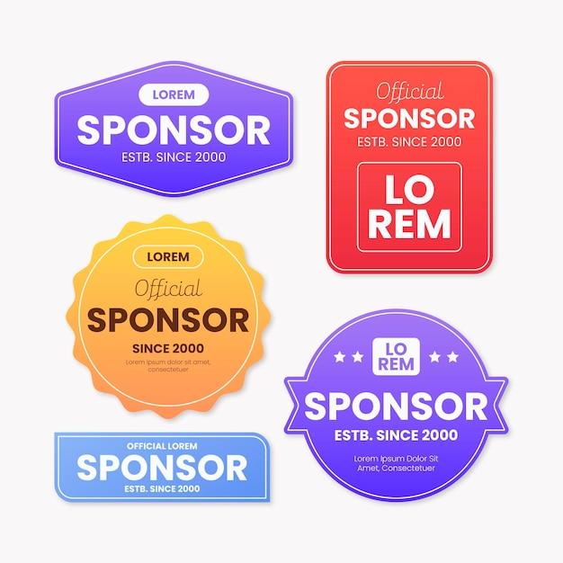 Collezione di adesivi sponsor Vettore Premium