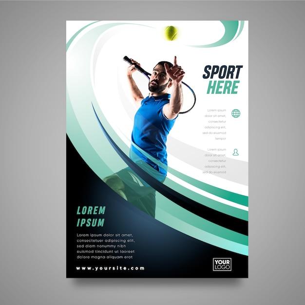 Concetto di brochure sportiva Vettore Premium