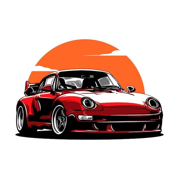 Auto sportiva Vettore Premium