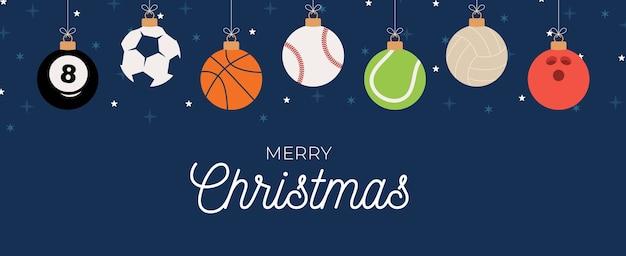 Auguri Di Natale Per Sportivi.Biglietto Di Auguri Di Natale Sport Vettore Premium