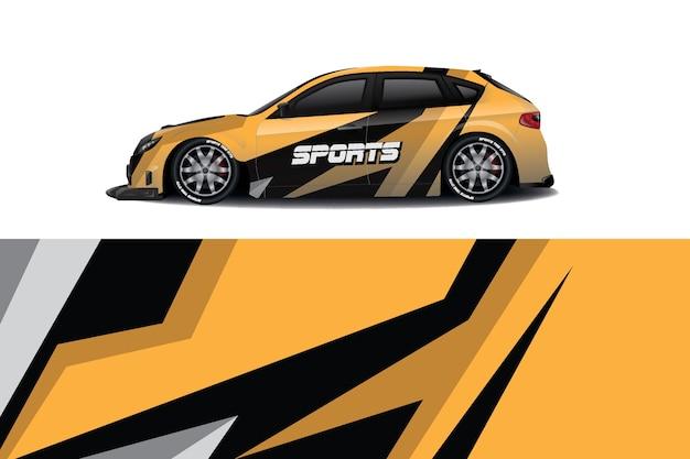 Design avvolgente per decalcomanie sportive Vettore Premium