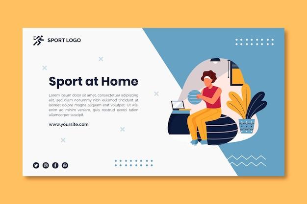 Sport a casa il concetto di banner Vettore Premium