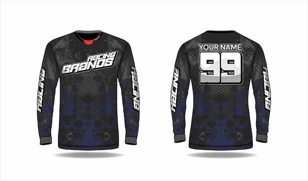 Concetto di design di maglia sportiva Vettore Premium