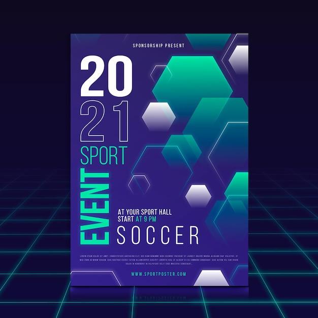 Modello di manifesto di eventi sportivi Vettore Premium
