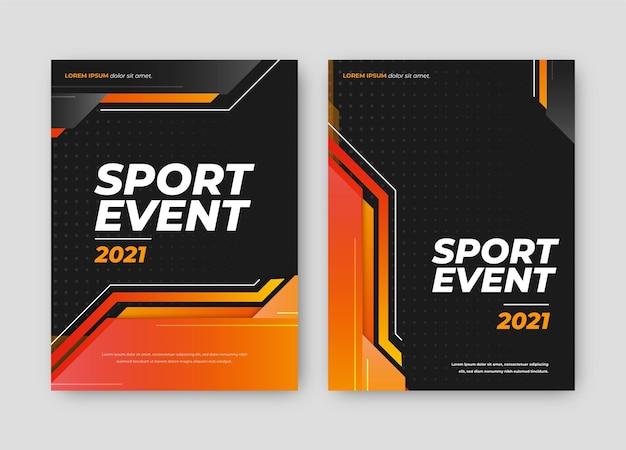 Locandina dell'evento sportivo Vettore Premium