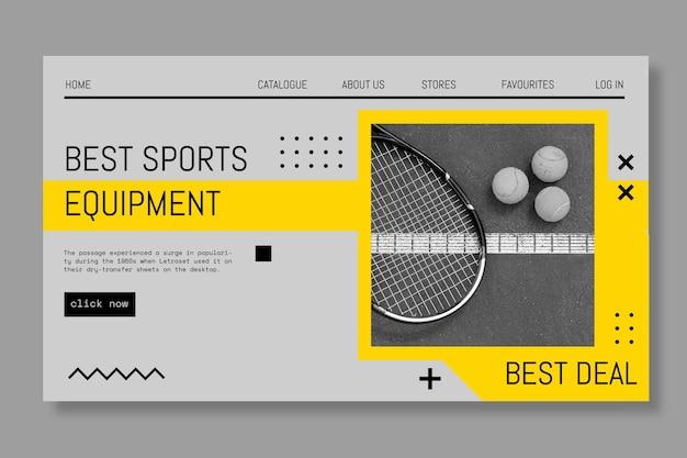 Lo sport gioca al banner di gioco Vettore Premium
