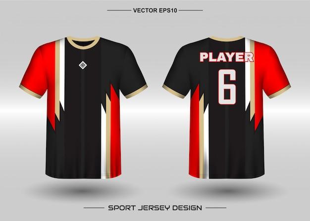 Modello di progettazione di jersey sportivo per divise della squadra Vettore Premium