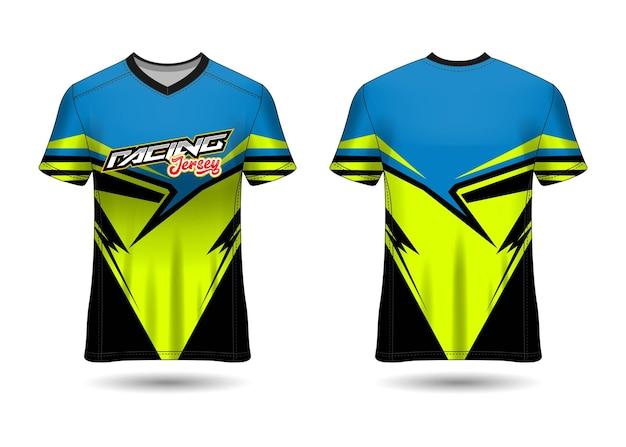 Modello di disegno di maglia da corsa sportiva per uniformi della squadra Vettore Premium