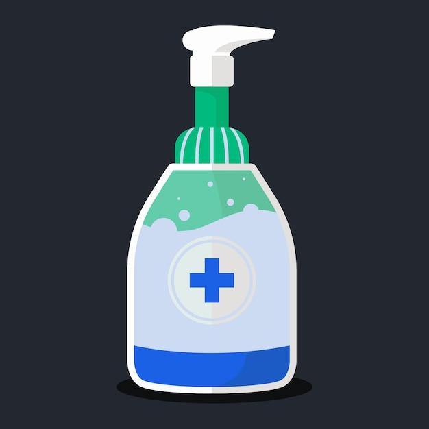 Flacone spray con disinfettante per le mani Vettore Premium