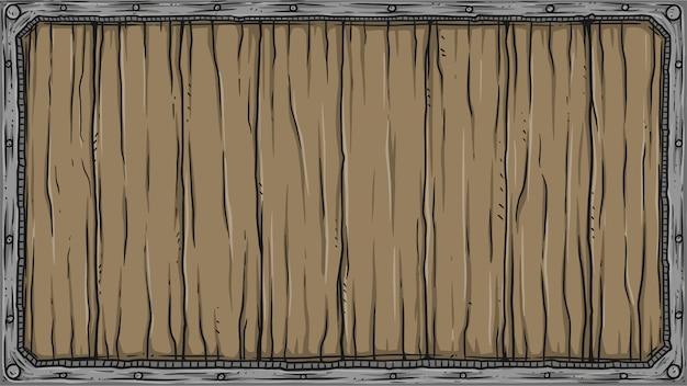 Cartello in legno quadrato Vettore Premium