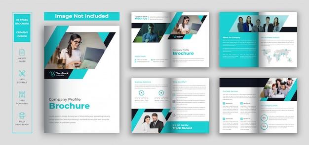 Mantieni il set di brochure sicuro Vettore Premium
