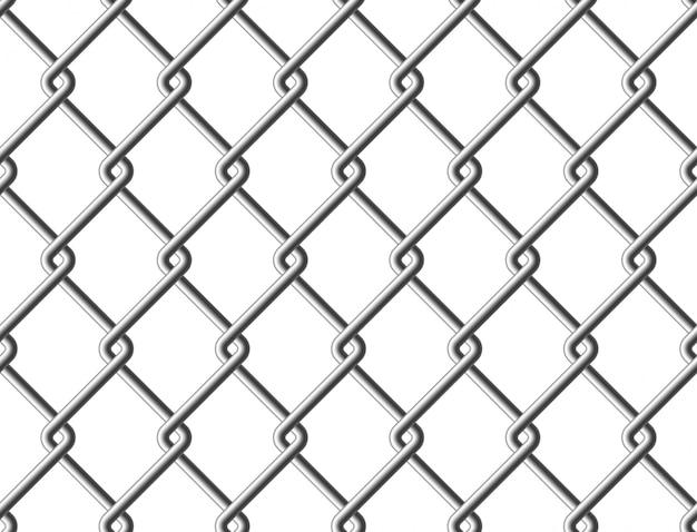 Struttura senza cuciture del recinto del metallo della maglia d'acciaio Vettore Premium