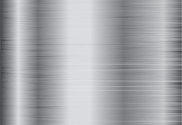 Fondo in acciaio argento Vettore Premium