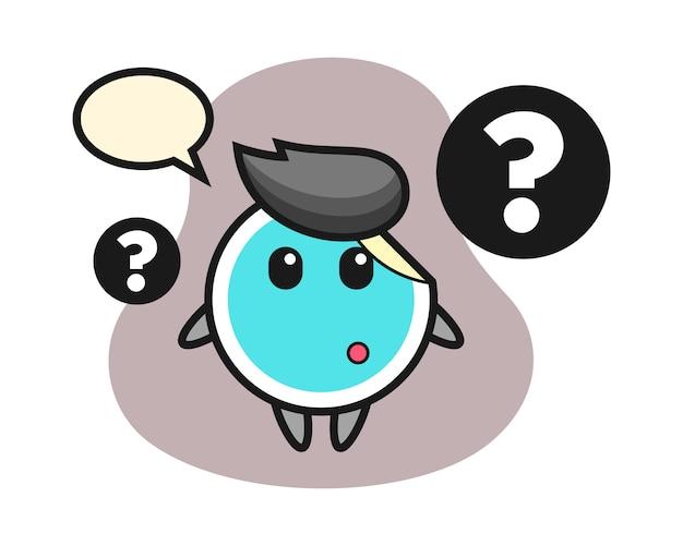 Cartone animato adesivo con il punto interrogativo Vettore Premium
