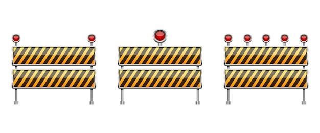 Arresti l'illustrazione della barriera isolata su fondo bianco Vettore Premium
