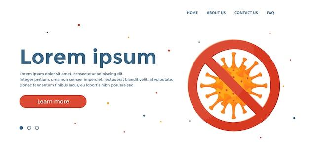 Fermare il virus. concetto di coronavirus. modello per immagini di eroi medici, banner web. Vettore Premium