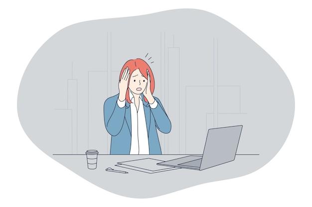 Stress, superlavoro, concetto di sovraccarico. Vettore Premium