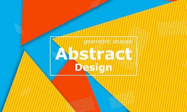 Estate sfondo astratto. illustrazione geometrica. Vettore Premium