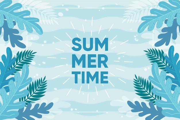 Sorteggio di sfondo estivo Vettore Premium