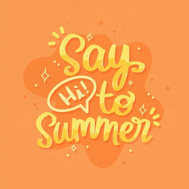 Concetto di lettere estive Vettore Premium
