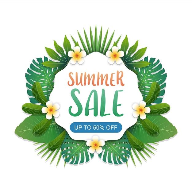 Layout di sfondo banner vendita estate Vettore Premium