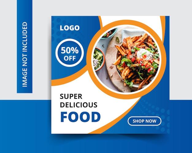 Sconto post vendita social media post design Vettore Premium