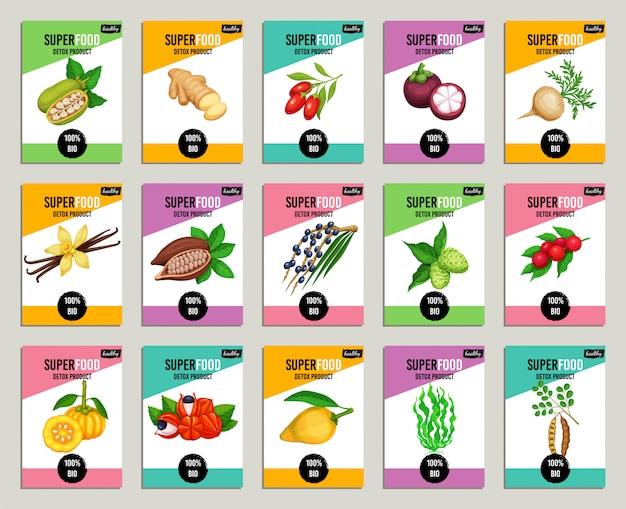 Set di superfood Vettore Premium