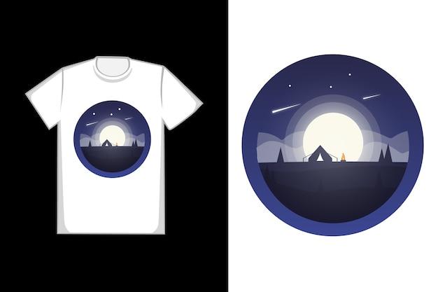 T-shirt luna piena Vettore Premium