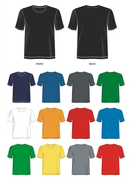 Modello di maglietta Vettore Premium