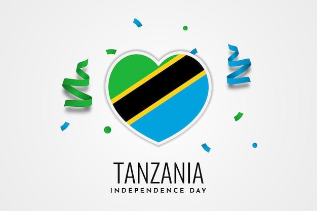 Modello dell'illustrazione di celebrazione del giorno dell'indipendenza della tanzania Vettore Premium
