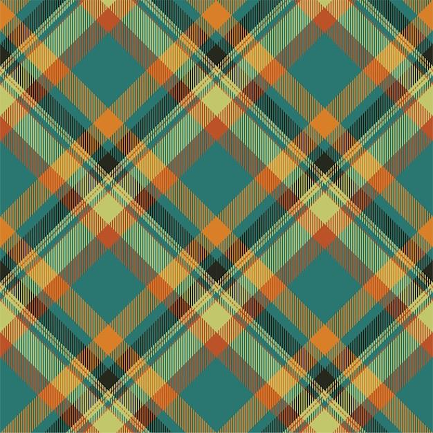 Modello scozzese scozzese scozzese senza cuciture. tessuto di sfondo retrò. Vettore Premium
