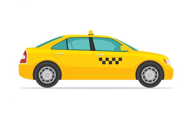 Illustrazione di auto taxi Vettore Premium
