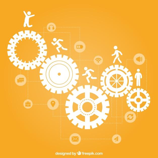 Teamwork concept icone Vettore Premium