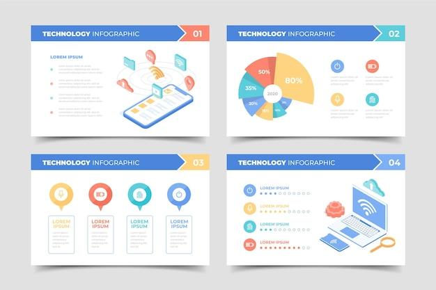 Modello di tecnologia infografica Vettore Premium
