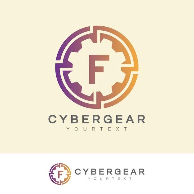 Tecnologia iniziale lettera f logo design Vettore Premium