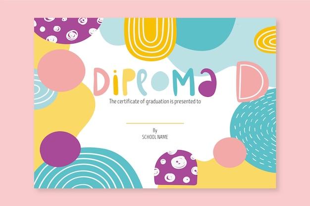 Modello per diploma di scuola Vettore Premium
