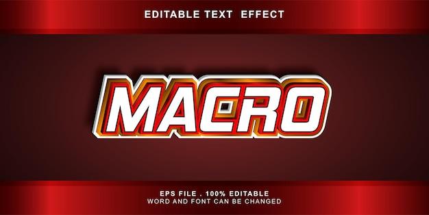Macro modificabile effetto testo Vettore Premium