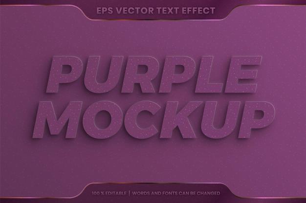 Testo effetto goffrato viola Vettore Premium