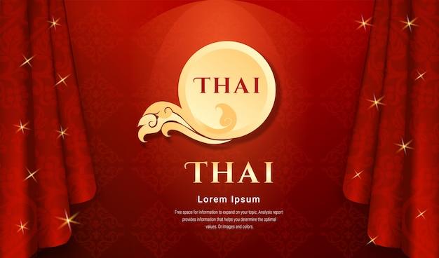 Concetto di sfondo tradizionale tailandese. Vettore Premium