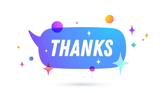 Grazie o grazie. fumetto. set di messaggi di chat, cloud talk, fumetto Vettore Premium