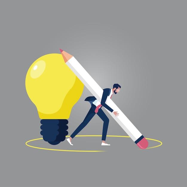 Pensa fuori dal concetto di scatola, pensa a un'idea diversa e creativa per la soluzione Vettore Premium