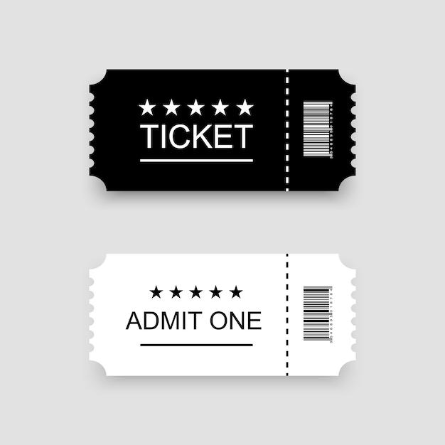Modello di biglietto o coupon Vettore Premium